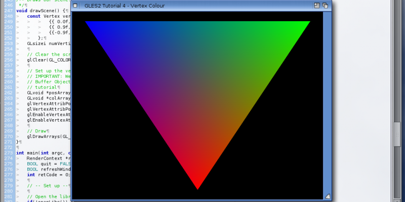 GLES2+ on AmigaOS - Colour Another Way - Vertex Attributes